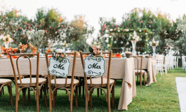 Plaats bruiloft